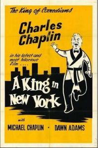 """A King in New York"" poster"
